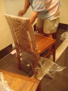 椅子在梯廳