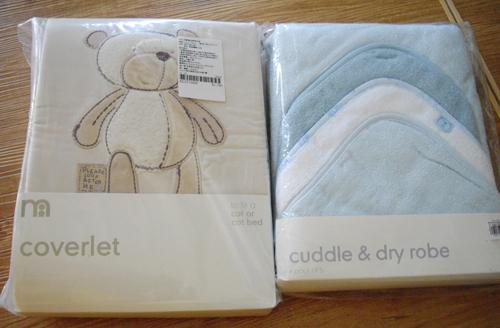 泰迪熊兩用被及3入包巾組